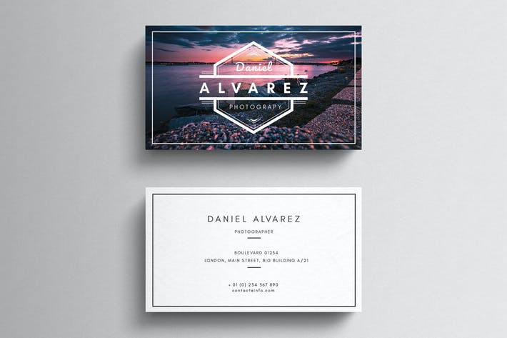 Cover Image For Photography Business Card Template
