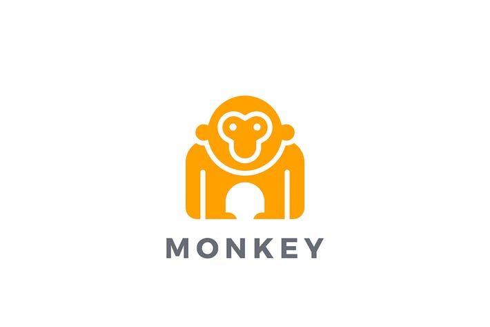 Thumbnail for Logo Monkey Gorilla Animal Silhouette