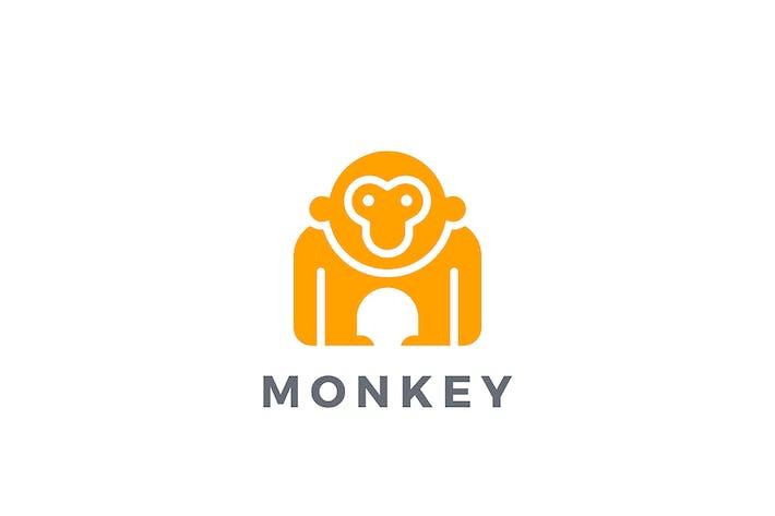 Thumbnail for Logo Monkey Gorilla Animal Silhouette