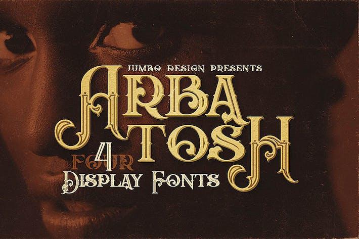 Thumbnail for Arbatosh - Display Font