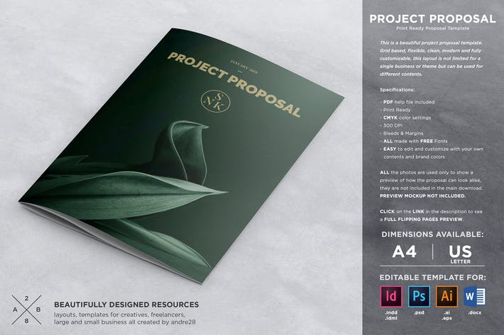 Cover Image For Project Proposal Contract & Invoice Template