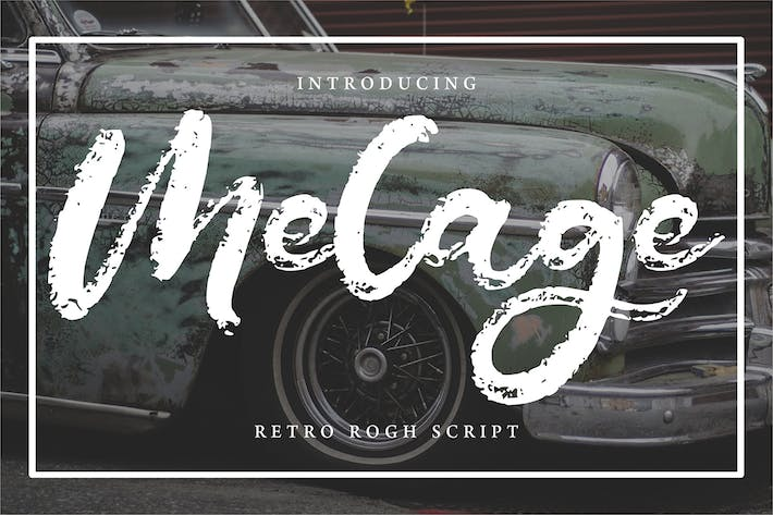 Thumbnail for Melage | Retro Rogh Script Police