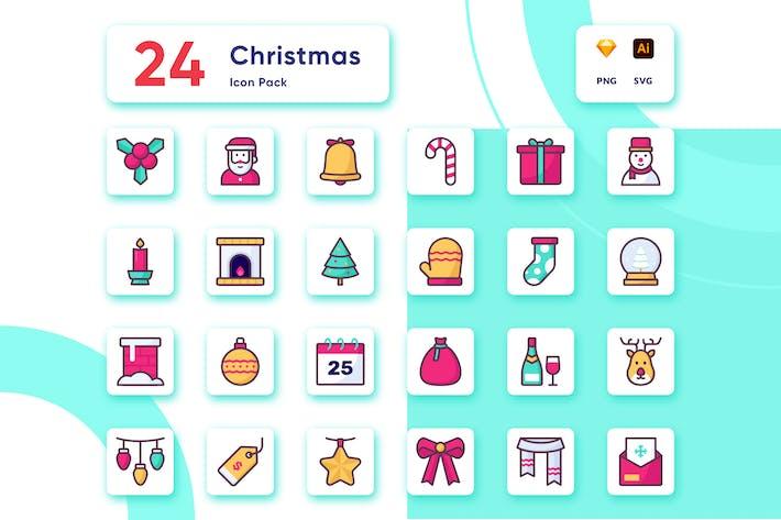 Thumbnail for Рождественские предметы и коллекции иконок украшений