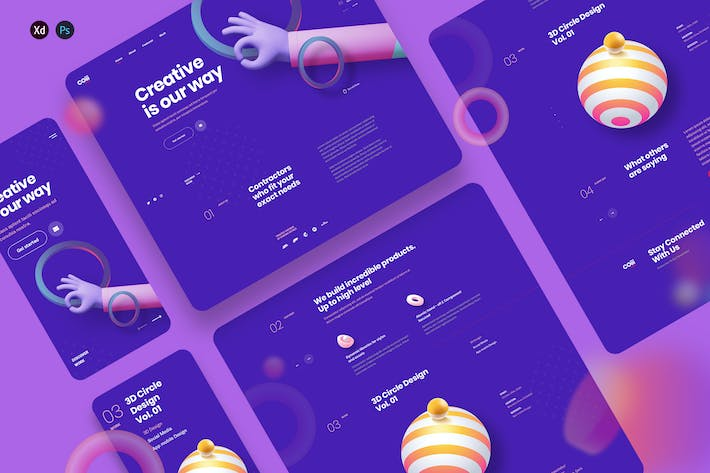 Coiii - Creative agency landing page template