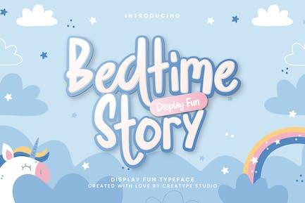 Affichage de l'histoire du coucher