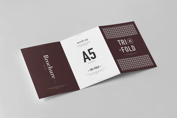 Thumbnail for Tri-Fold A5 Brochure Mock-up 2