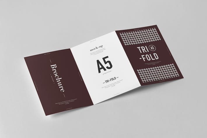 cover image for tri fold a5 brochure mock up 2