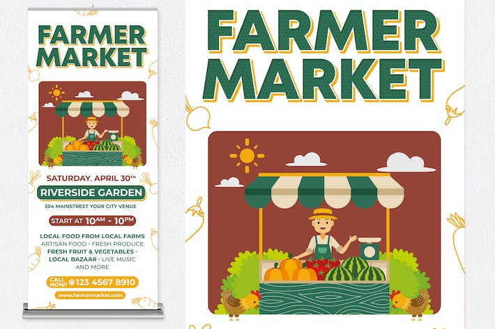 Thumbnail for FARMER MARKET roll up banner