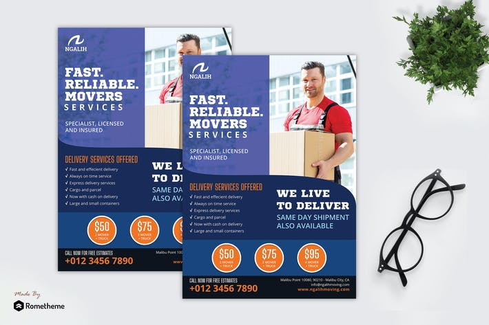 Thumbnail for Ngalih Moving Service - Business Flyer RB