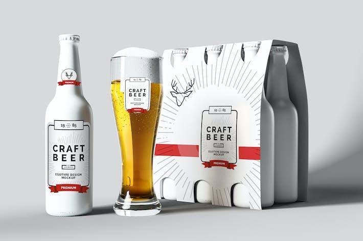 Thumbnail for Maquette de bière Blanc Mat