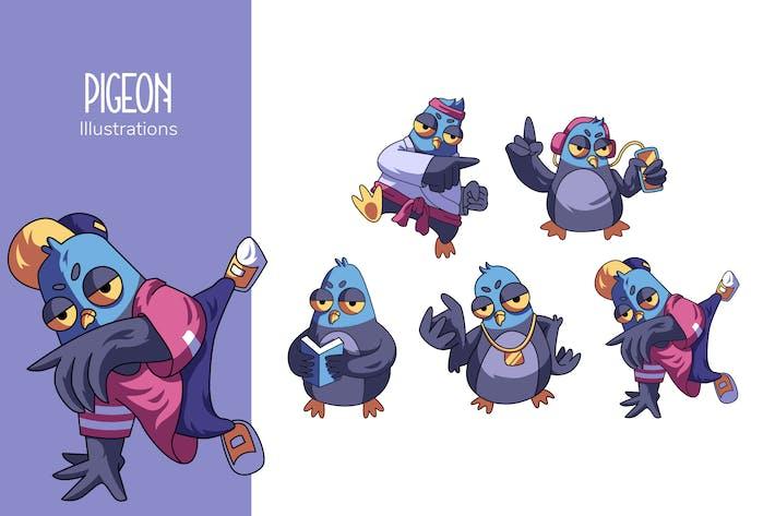 Pigeon Illustrations