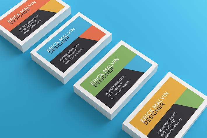 Thumbnail for UK Business Cards Mock-up's [85×55 mm]