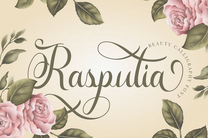 Thumbnail for Rasputia - Beautiful Calligraphy Font