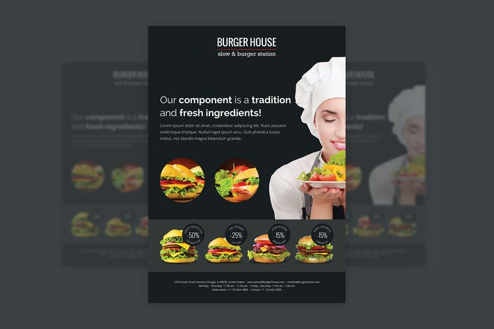 Cover Image For BurgerHouse – Bar and Restaurant Flyer