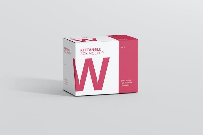 Thumbnail for Box Mockup - Wide Rectangle Big Size