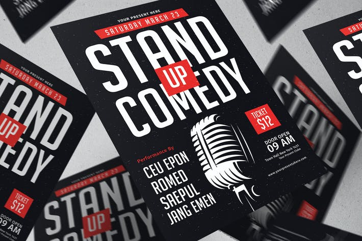 Thumbnail for Stand Up Comedy Flyer