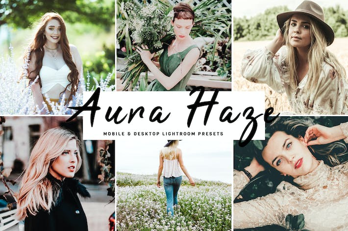 Thumbnail for Aura Haze Mobile & Desktop Lightroom Presets
