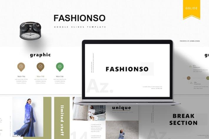 Thumbnail for Fashionso | Google Slides Template
