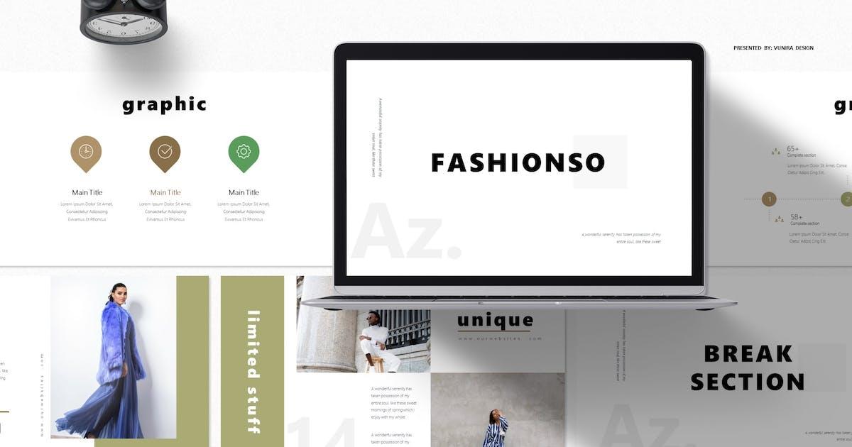 Download Fashionso | Google Slides Template by Vunira