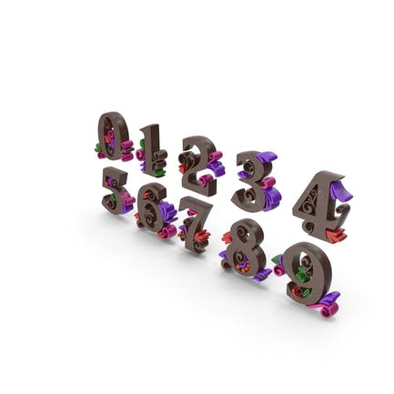 Multi Color Numbers Chocolate