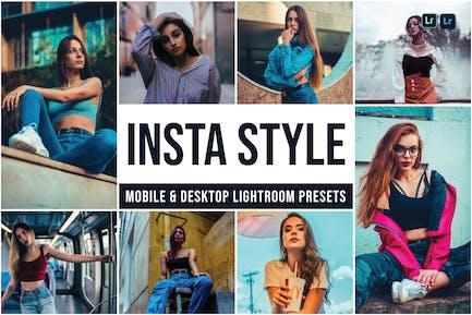 Пресеты Lightroom для мобильных и настольных ПК Insta Style