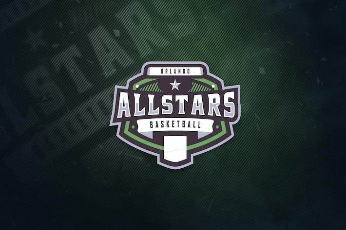 Thumbnail for Orlando Allstars Basketball Sports Logo