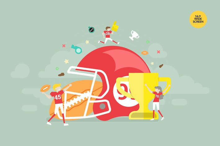 Thumbnail for American Football Vector Concept Illustration