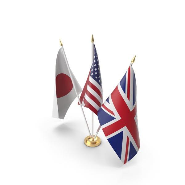 Thumbnail for Table Flags United Kingdom USA Japan