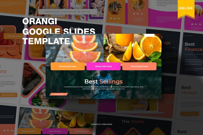 Thumbnail for Orangi | Google Slides Template