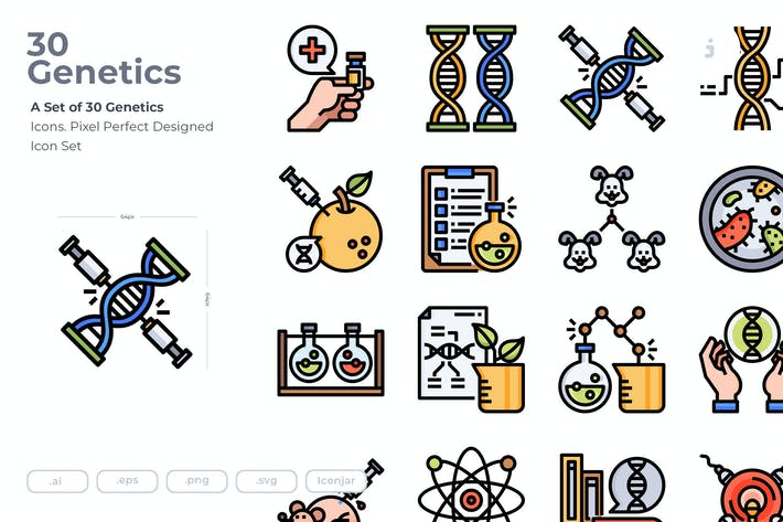 Thumbnail for 30 Genetics Icons