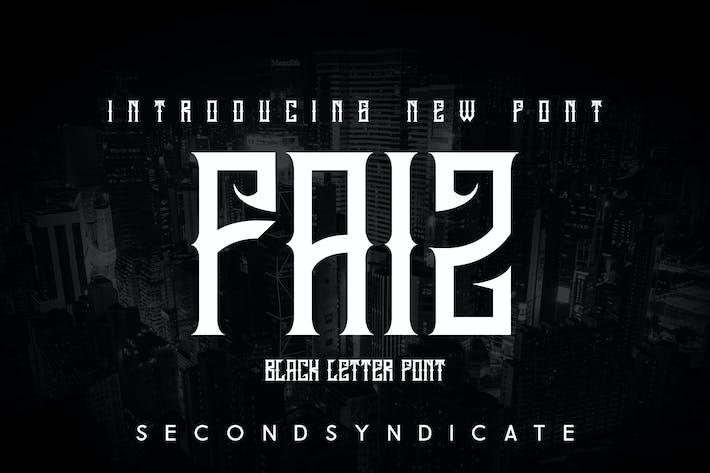 Thumbnail for FAIZ - Fonte Blackletter