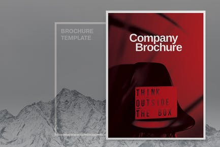 Black Company Brochure Template