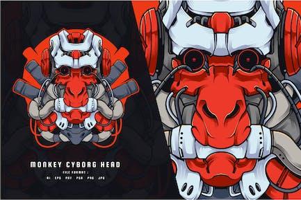 Affe Cyborg Head