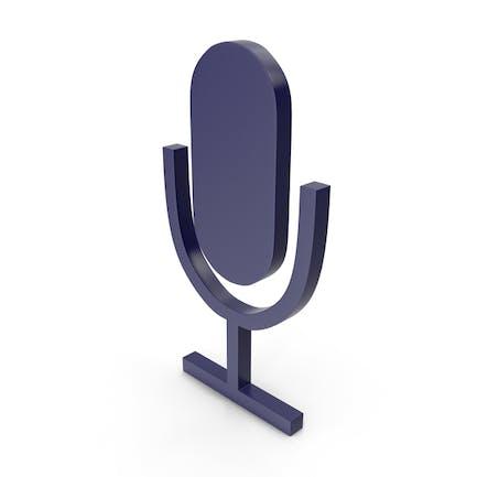 Microphone Dark Blue Icon