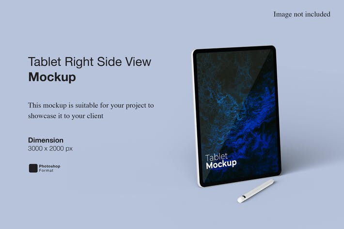 Tablet Right Side View Mockup