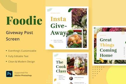 Foodie Giveaway - Feed Post