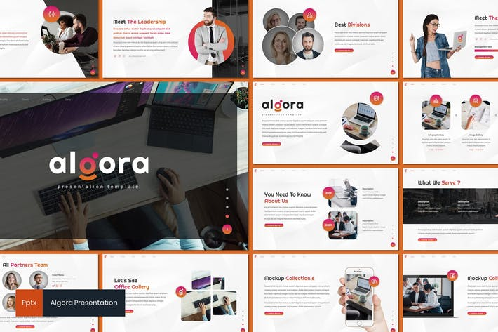 Thumbnail for Algora - Business Powerpoint Template
