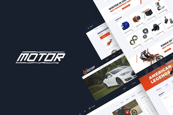 قالب ووردبريس : Motor – Vehicles & Parts WordPress Theme
