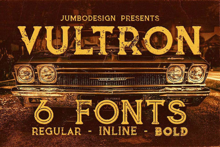 Thumbnail for Vultron - Vintage Style Font