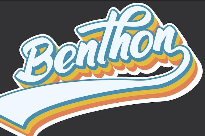 Thumbnail for Benthon - Guión y Escrito a Mano | Logo Font