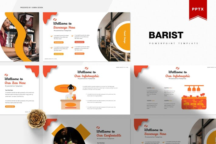 Thumbnail for Barist | Powerpoint Template