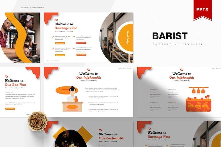 Thumbnail for Барист | Шаблон Powerpoint