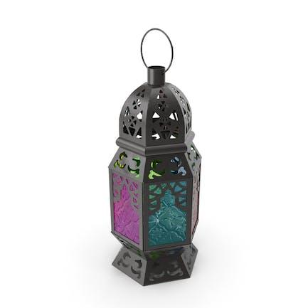 Разноцветный марокканский фонарь