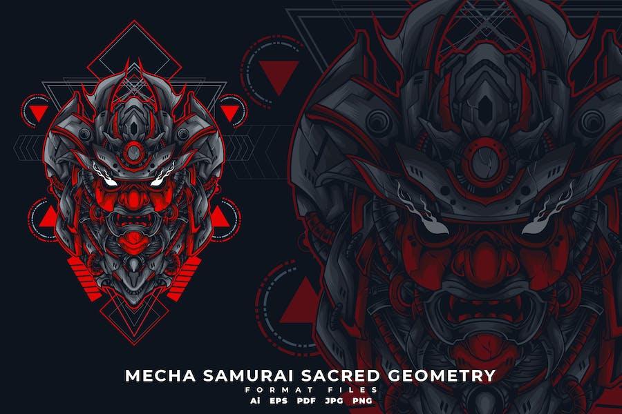 MECHA SAMURAI SACRED GEOMETRY