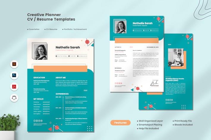Thumbnail for Creative Planner CV Resume