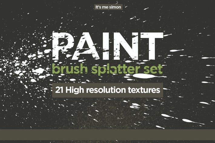 Thumbnail for Spray paint splatter set