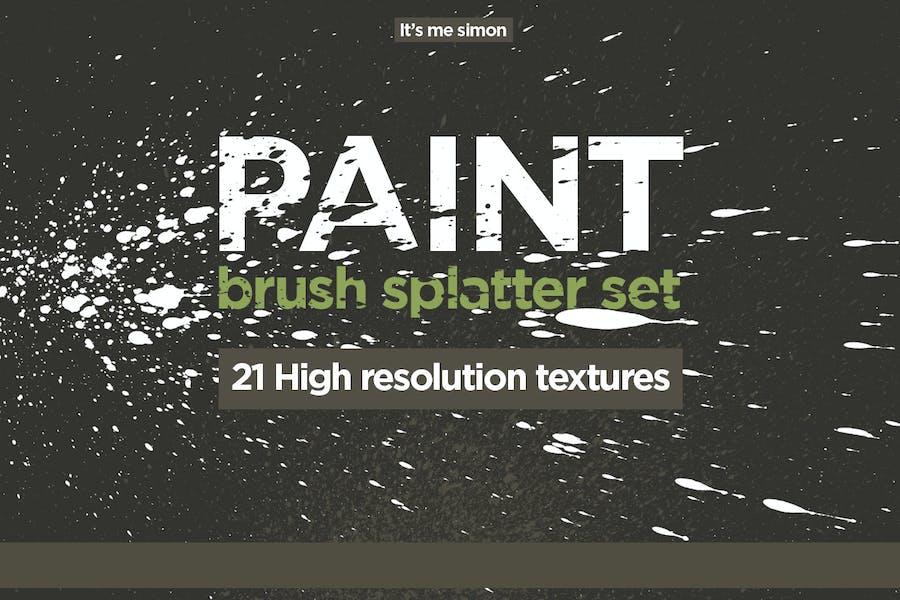Spray paint splatter set