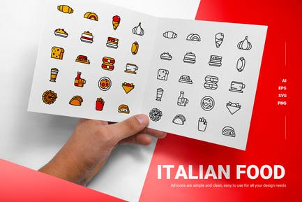 Italian Food - Icons