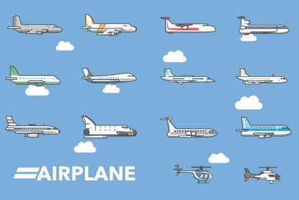 Airplane & Helicopter Icon