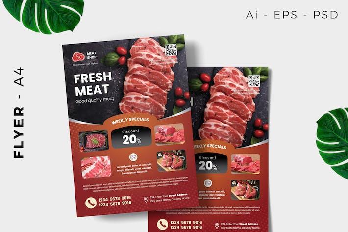Thumbnail for Fresh Meat Butcher Flyer Design